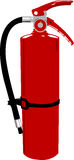 Fire extinguisher - vector clipart. Red fire extinguisher on white background Stock Images