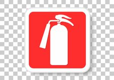 Fire Extinguisher. Vector design of emergency equipment sign Stock Photo