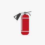 Fire extinguisher vector icon Royalty Free Stock Image
