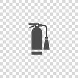 Fire extinguisher vector icon. Color illustration fire extinguisher vector icon Stock Photo