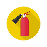 Fire extinguisher vector icon Royalty Free Stock Photos