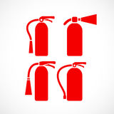 Fire extinguisher vector icon. S set Royalty Free Stock Photos