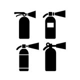 Fire extinguisher vector icon. S set Stock Photos
