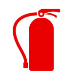 Fire extinguisher vector icon. Illustration isolated on white background Royalty Free Stock Photography