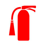 Fire extinguisher vector icon. Fire extinguisher red vector icon Royalty Free Stock Photo