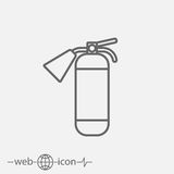 Fire extinguisher vector icon. On white background Royalty Free Stock Photography