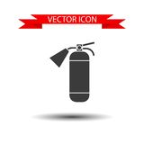 Fire extinguisher vector icon Stock Images