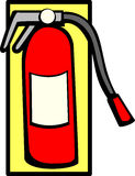 Fire extinguisher vector illustration Royalty Free Stock Image