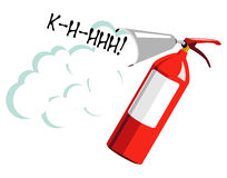 Fire extinguisher. Vector illustration of fire extinguisher in commix style Royalty Free Stock Photography