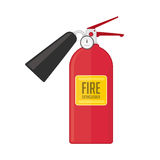 Fire extinguisher vector illustration. In flat style. Safety equipment icon, fire extinguisher dry powder or foam Royalty Free Stock Images