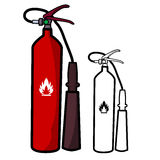 Fire-extinguisher Royalty Free Stock Images