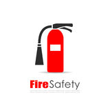 Fire extinguisher vector logo. Illustration Royalty Free Stock Photo