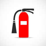 Fire extinguisher vector logo Stock Photography