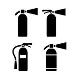 Fire extinguisher vector pictogram. S  on white background Royalty Free Stock Images