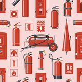 Fire extinguisher vector fire-extinguisher to for safety and protection to extinguish fire illustration set of. Extinguishing equipment of firefighter isolated vector illustration