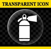 Fire extinguisher vector transparent icon. Illustration of fire extinguisher vector transparent icon Stock Images