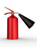Fire extinguisher on white background Royalty Free Stock Images