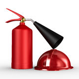 Fire extinguisher on white background. Isolated 3D image Royalty Free Stock Images