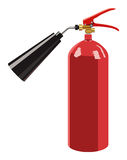 Fire extinguisher. The fire extinguisher on a white background Stock Image