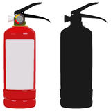 Fire extinguisher. The fire extinguisher on a white background Royalty Free Stock Photography