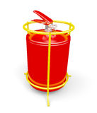 Fire extinguisher on white. Fire extinguisher  on a white background. 3d render image Stock Image