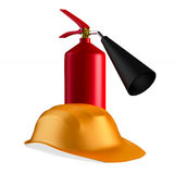 Fire extinguisher on white background. Isolated 3D Royalty Free Stock Image