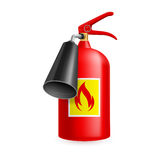 Fire extinguisher. On white background. Fire safety Royalty Free Stock Image
