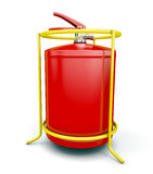 Fire extinguisher. On white background.  for your design Royalty Free Stock Image