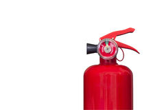 Fire extinguisher on white Stock Photography