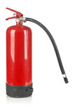 Fire extinguisher on white Stock Images