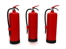Fire extinguisher (XXL size). 3 fire extinguishers isolated on white (3d model Stock Photography
