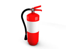 Fire Extinguishers. Illustration of 3d fire extinguishers Royalty Free Stock Images