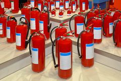 Fire extinguishers Stock Photo