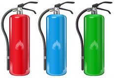Fire extinguishers. Illustration of the fire extinguishers on a white background Stock Photography