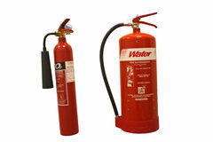 Fire extinguishers Stock Photos
