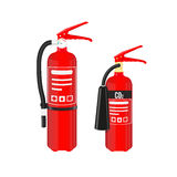 Fire extinguishers set  on white background. Vector illustration. Fire extinguishers set  on white background. Vector illustration Royalty Free Stock Photography
