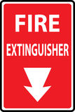 Fire extinguishers sign. Signs of fire extinguishers sign. Vector Illustration Stock Images
