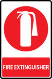 Fire extinguishers sign. Symbol of fire extinguishers sign. Vector Illustration Stock Images