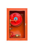 Fire extinguishers on white Royalty Free Stock Image