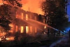 Fire extinguishing Stock Photos