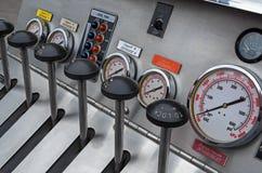 Fire-extinguishing system control panel Stock Photo