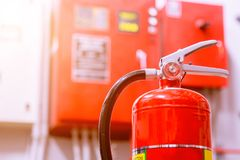 Fire extinguishing system. Powerful industrial fire extinguishing system royalty free stock photography