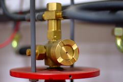 Fire extinguishing valve Royalty Free Stock Photo