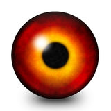 Fire eye pupil illustration Stock Photos