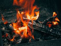 Fire. The fire fades out when it is stopped to maintain the fire Royalty Free Stock Image