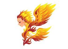 Fire Fairy vector illustration. White background. Also available in vector EPS 10 Royalty Free Stock Photography