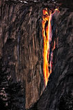 Fire Falls, Yosemite National Park Stock Photos