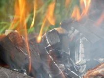 Fire fascinates and attracts stock image