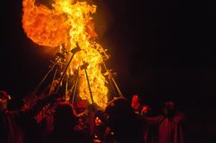 Fire Festival of the Catalonian Regions Royalty Free Stock Image