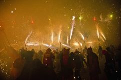 Fire Festival of the Catalonian Regions Royalty Free Stock Images